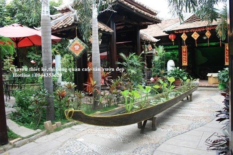 Mẫu Quán Cafe Vườn đẹp